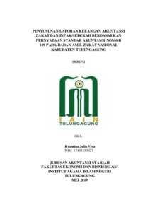 Penyusunan Laporan Keuangan Zakat Dan Infak Sedekah Berdasarkan Pernyataan Standar Akuntansi Nomor 109 Pada Badan Amil Zakat Nasional Kabupaten Tulungagung Institutional Repository Of Iain Tulungagung
