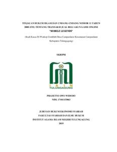 Tinjauan Hukum Islam Dan Undang Undang Nomor 11 Tahun 2008 Ite Tentang Transaksi Jual Beli Akun Game Online Mobile Legends Institutional Repository Of Iain Tulungagung