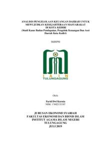 Analisis Pengelolaan Keuangan Daerah Untuk Mewujudkan Kesejahteraan Masyarakat Di Kota Kediri Studi Kasus Badan Pendapatan Pengelola Keuangan Dan Aset Daerah Kota Kediri Institutional Repository Of Iain Tulungagung