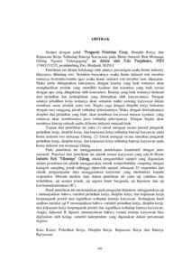 Pengaruh Pelatihan Kerja Disiplin Kerja Dan Kepuasan Kerja Terhadap Kinerja Karyawan Pada Home Industi Roti Monasqu Gilang Ngunut Tulungagung Institutional Repository Of Iain Tulungagung