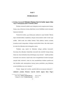 Analisis Perilaku Konsumtif Mahasiswi Ekonomi Syari Ah Institut