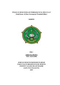 Tinjauan Hukum Islam Terhadap Jual Beli Ulat Studi Kasus Di Desa