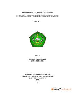 Prespektif Kiyai Nahdlatul Ulama Di Tulungagung Terhadap Perbankan Syariah Institutional Repository Of Iain Tulungagung