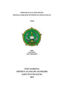 Perjanjian Jual Beli Online Ditinjau Dari Hukum Positif Dan Hukum Islam Institutional Repository Of Iain Tulungagung